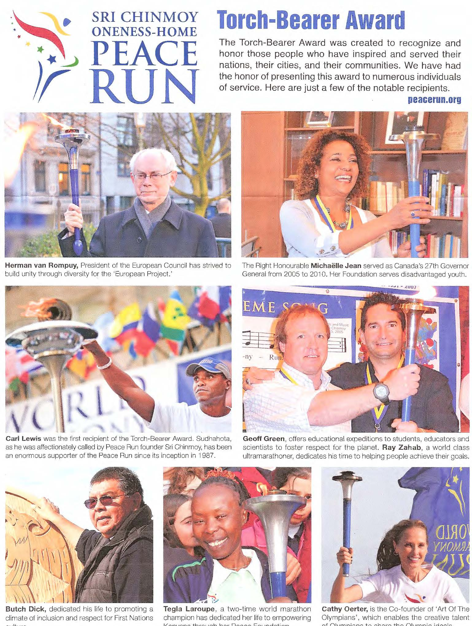 Peace Run 2018 Flyer